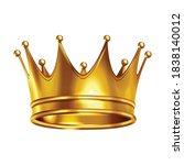 crowns laurel wreath realistic... | Shutterstock .eps vector #1838140012