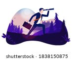 businessman on a mission   man...   Shutterstock .eps vector #1838150875