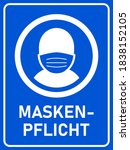 "maskenpflicht  ""face mask... | Shutterstock .eps vector #1838152105"