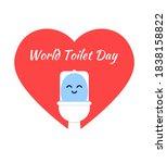 world toilet day  happy toilet...   Shutterstock .eps vector #1838158822