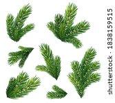 different christmas tree... | Shutterstock .eps vector #1838159515