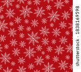 crayon snowflakes pattern... | Shutterstock .eps vector #1838169598