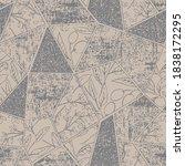 modern art deco collage olive... | Shutterstock .eps vector #1838172295