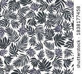 beautiful jungle pattern.... | Shutterstock .eps vector #1838177458