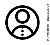user icon isolated sign symbol... | Shutterstock .eps vector #1838182795