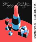 happy new year card. set of...   Shutterstock .eps vector #1838183545