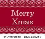 merry christmas. fairisle...   Shutterstock .eps vector #1838185258