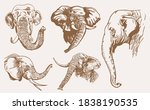 graphical vintage set of... | Shutterstock .eps vector #1838190535