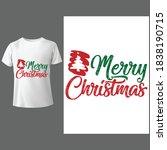 merry christmas shirt ...   Shutterstock .eps vector #1838190715
