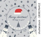 merry christmas and happy new...   Shutterstock .eps vector #1838196412