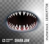 cartoon spooky shark jaw... | Shutterstock .eps vector #1838197738