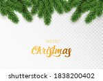green merry christmas fir tree... | Shutterstock .eps vector #1838200402