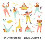 women different sizes  ages and ... | Shutterstock .eps vector #1838208955