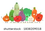 happy and cheerful vegetables... | Shutterstock .eps vector #1838209018