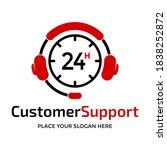 customer support vector logo... | Shutterstock .eps vector #1838252872