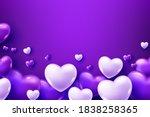 3d Realistic Purple Heart...