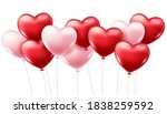 red and pink heart balloons on... | Shutterstock .eps vector #1838259592