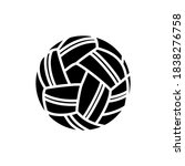 takraw ball icon line style...