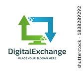 digital exchange vector logo... | Shutterstock .eps vector #1838289292