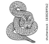 hand drawn of snake in... | Shutterstock .eps vector #1838289562