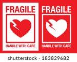 fragile heart vector symbol | Shutterstock .eps vector #183829682
