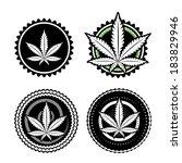 marijuana design stamp vector design