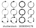 circular arrows. dotted circles ...