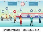 passenger in railway train... | Shutterstock .eps vector #1838333515