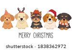 the character of cute dog wear... | Shutterstock .eps vector #1838362972