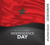 morocco happy independence day... | Shutterstock .eps vector #1838408698