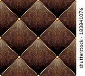 seamless texture brown leather... | Shutterstock .eps vector #183841076