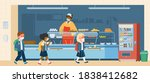 vector school canteen with... | Shutterstock .eps vector #1838412682