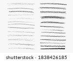 pencil charcoal strokes set ...   Shutterstock .eps vector #1838426185