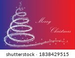 christmas tree on transparent... | Shutterstock .eps vector #1838429515