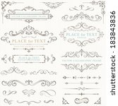 Ornate frames and scroll elements. | Shutterstock vector #183843836