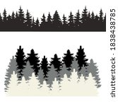 forest icon vector set. hike... | Shutterstock .eps vector #1838438785