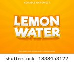 lemon water text effect... | Shutterstock .eps vector #1838453122