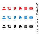 contact glyph icons set in... | Shutterstock .eps vector #1838460685