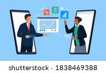 confident business people... | Shutterstock .eps vector #1838469388