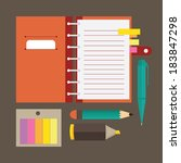 office and stationary icons | Shutterstock .eps vector #183847298