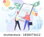 businessmen meeting  sign of... | Shutterstock .eps vector #1838473612