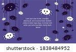 happy halloween banner or party ... | Shutterstock .eps vector #1838484952