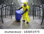 worker in protective uniform... | Shutterstock . vector #183851975