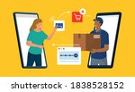 online shopping and delivery ... | Shutterstock .eps vector #1838528152