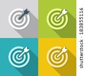 icon flat target with dart in...   Shutterstock .eps vector #183855116