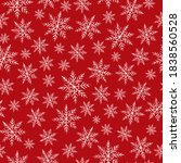 crayon snowflakes pattern... | Shutterstock .eps vector #1838560528