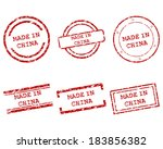 made in china stamps | Shutterstock .eps vector #183856382