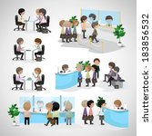 business peoples   isolated on... | Shutterstock .eps vector #183856532