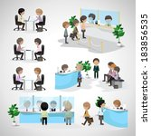 business peoples   isolated on... | Shutterstock .eps vector #183856535