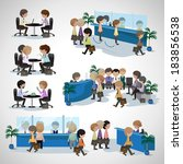 business peoples   isolated on... | Shutterstock .eps vector #183856538